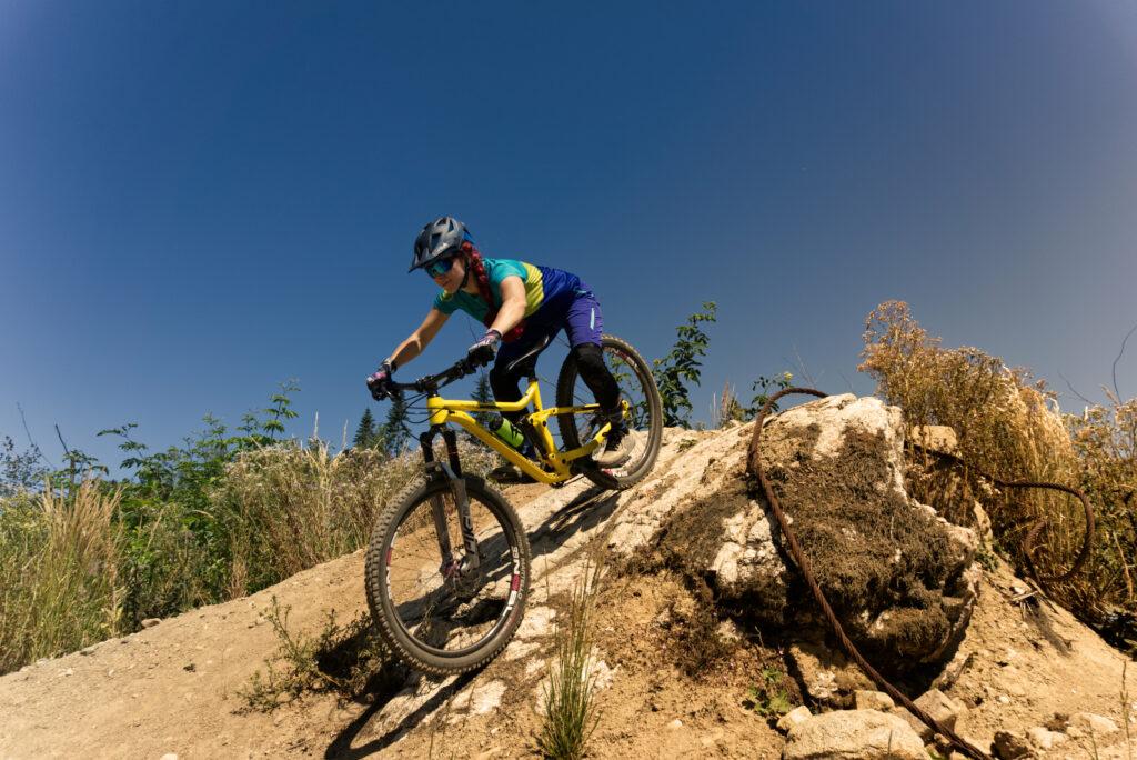 Mountainbike Fahrtechnik Bremsen
