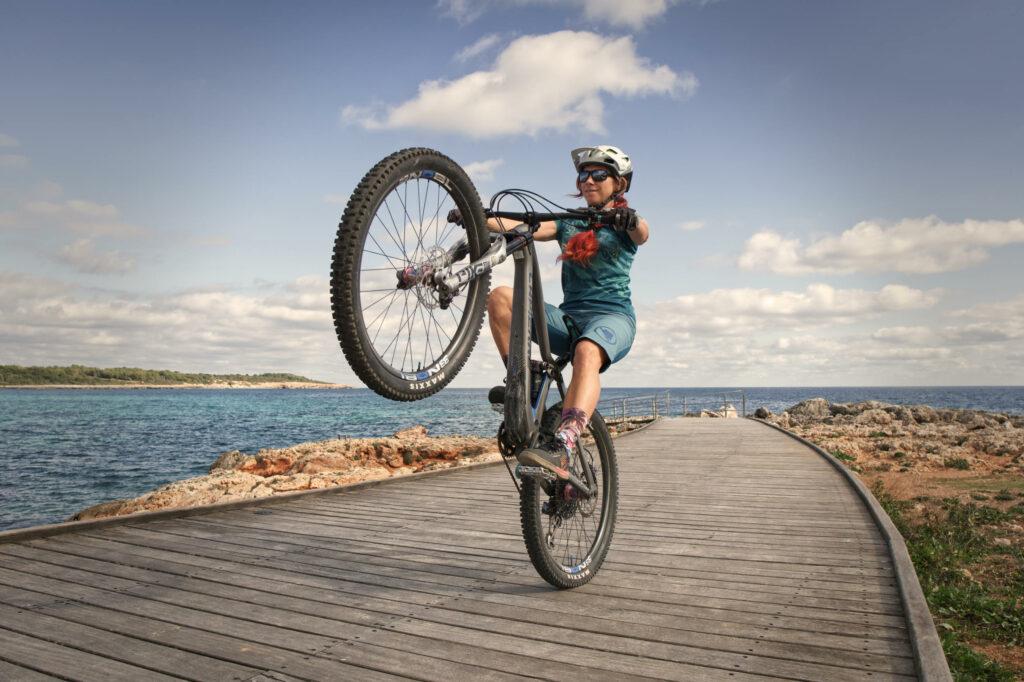 wheelie lernen mit dem mountainbike
